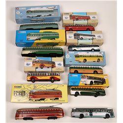 O Gauge- Corgi Classic Busses and Street Cars - 9 pieces  [133169]
