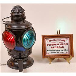 Boston & Maine RR Rear Marker Lamp  [133330]