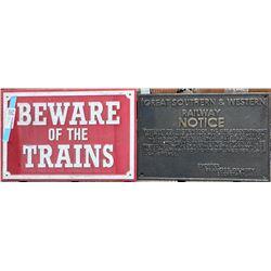 British Cast Iron Railroad Signs  [133629]