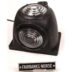Fairbanks Morse Signal Lamp and Ephemera  [133609]