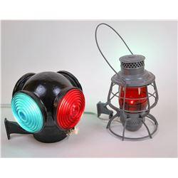 Handheld RR Lantern & 4 Lens Signal Lamp  [133161]