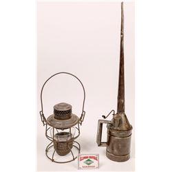 Illinois Central Railroad lantern and Oiler  [133420]