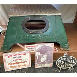 New York Central Conductor's Step Stool with NYC Paperweight  [133457]