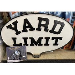 Norfold Southern Railway Yard Limit Cast Iron Sign  [133421]