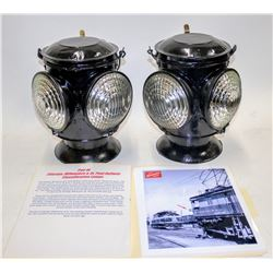 Pair of Chicago, Milwaukee & St. Paul Railway Classification Lamps  [131034]