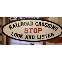 Pennsylvania RR Cast Iron RR Crossing Sign  [133382]