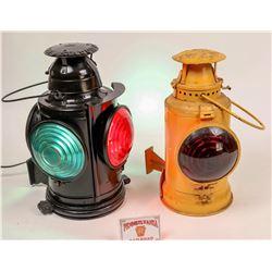 Pennsylvania RR Rear Marker Lamp and Semaphone Lamp  [133379]