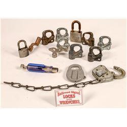 Railroad Padlocks and Signal Locks  [133470]