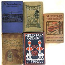 5 Historical Books on Railroad  [133617]