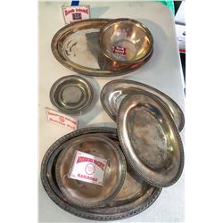 Dining Car Silver Plate Serving Pieces - 7  [133620]