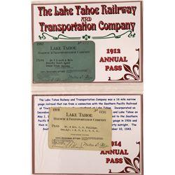 Lake Tahoe RY Passes, 1912, 1914, 1915  [133643]
