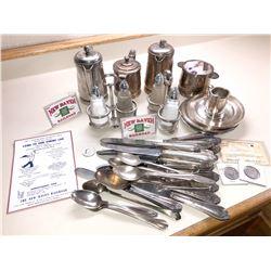 New Haven Railroad Dining Car Silverplate, Flatware, etc.  [133300]