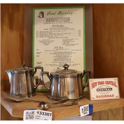 New York Central RR Dining Car Silver Service Items  [133307]