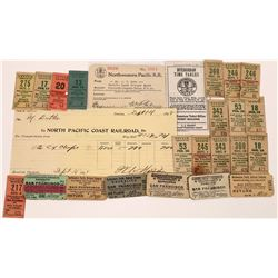 Northwestern Pacific Railroad Ticket Collection  [127710]