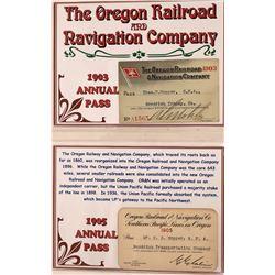 Oregon Railroad Passes (4)  [133648]