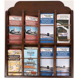 Original Wood Timetables Pamphlet Holder  [133613]
