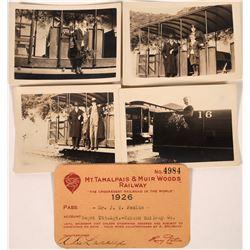 Photos of Mt. Tamalpais Railway (4)  Plus Railroad Pass [127707]