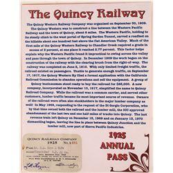 Quincy, Cal RR Pass 1925  [133644]