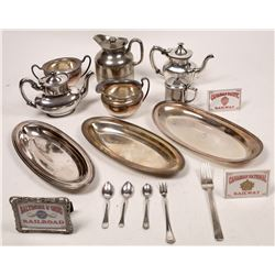 Railroad Dining Car Silverplate Serving Pieces  [133499]