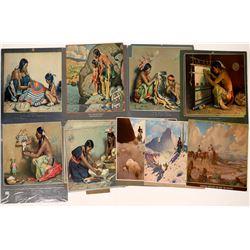 Santa Fe RR Calendar Art -1926-1945 - 15 pcs  [126904]