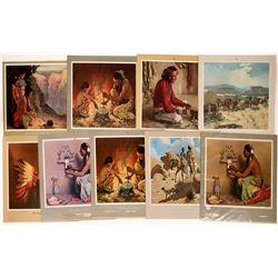 Santa Fe RR Calendar Art -1950-1967 - 9 pcs  [126903]