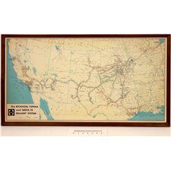 Santa Fe RR System Map  [126910]