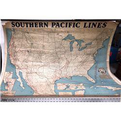 Southern Pacific Railroad Wall Map, circa 1936  [131288]