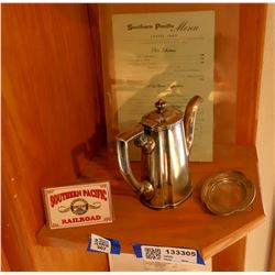 Southern Pacific RR Dining Car Silver Service Items - 2  [133305]