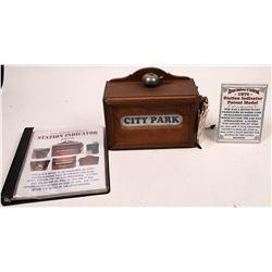 Street Railway Station Indicator Patent Model  [133343]