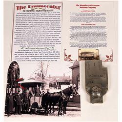 The First Street Railway Fare Enumerator (Register).  [128056]