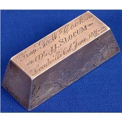 Leadville Cook Presentation Silver Ingot  [131547]