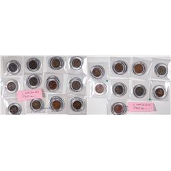 Complete Set of Encased Large Cents 1816-1857  [129214]