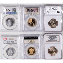 Gem Proof Presidential Dollars and Canadian 50 Cent  [129138]