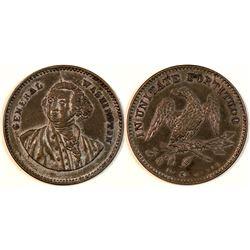 George Washington $5 Silvered Counter  [122344]