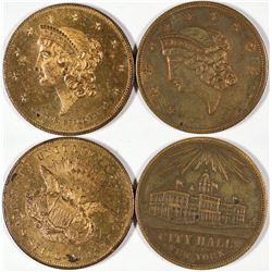 U.S. $20 Gold Piece Counters  [122353]