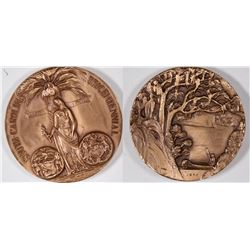 High Relief Medallic Art Co. 1970 South Carolina Tricentennial Bronze Medal  [131240]