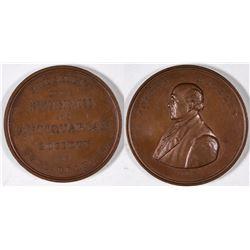 Joseph Mickley 1867 Numismatic Society Medal  [131242]