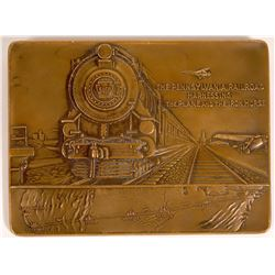 Pennsylvania Railroad Rectangular Bronze Medal  [131326]