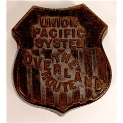 Union Pacific Railroad Brass Display Logo  [131320]