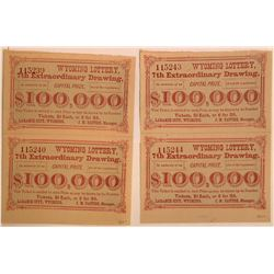 Lottery Fraud Tickets, Wyoming, 1875  [131079]