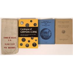 Mexican and German Numismatic Catalogs and Coin Bag  [127148]