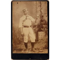Santa Fe Uniformed Baseball Player, c1885  [131063]