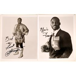 Boxer Joe Frazier & Son Autographed Photos  [127435]