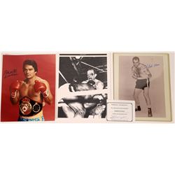 Autographed Photos of Roberto Duran and Others  [127437]