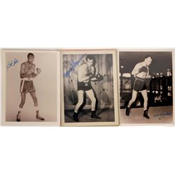 Autographed Photos of Three Well Known Boxers  [127434]
