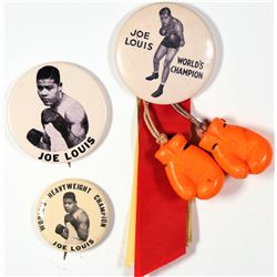 Joe Louis Boxing Photo Pins  [129835]