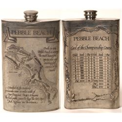 Rare Pebble Beach Golf Course Flask  [129518]