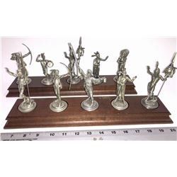 A collection of 10 Pewter Sculptures by Polland  [131343]