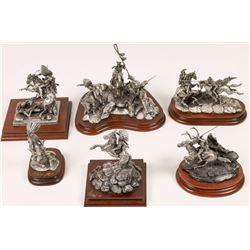 American Indian Battle Sculptures (6)  [131139]