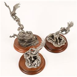 American Indian Eagle Pewter Statues (3)  [131143]